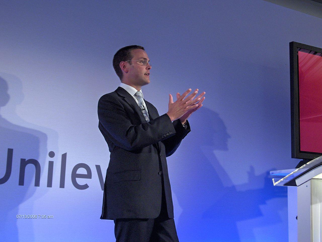 James Murdoch, son of media tycoon Rupert Murdoch, is the current Sky CEO. Image: Wikimedia