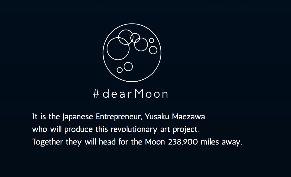 #DearMoon is a 'universal global art project' being led by Japanese billionaire Yusaku Maezawa