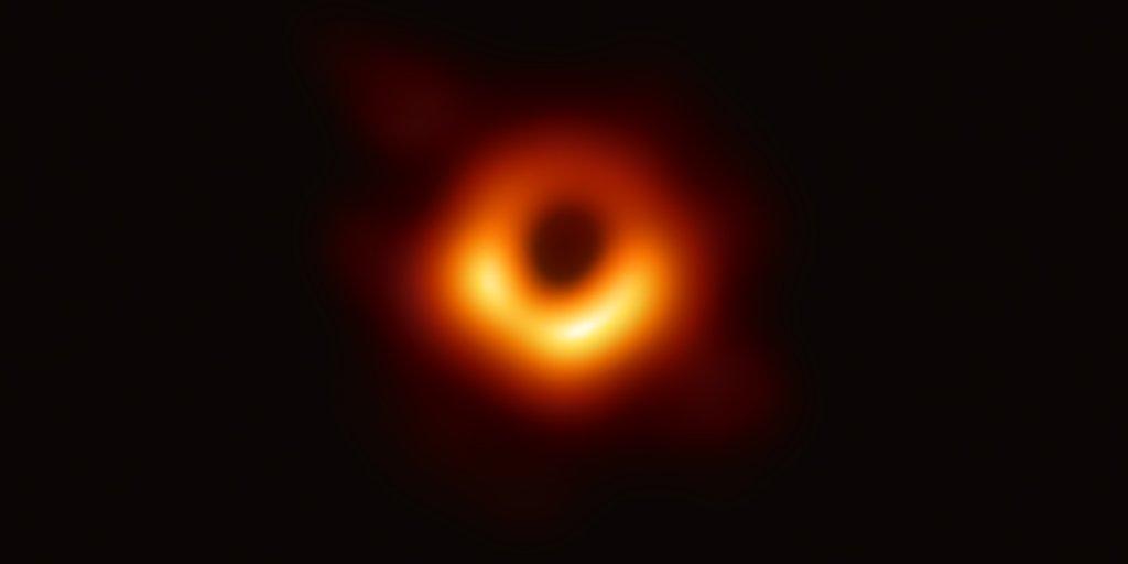 photo of a black hole
