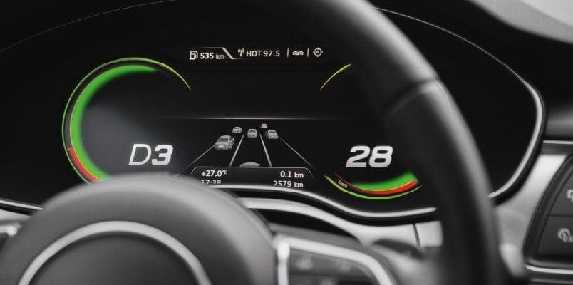 Audi A7 driverless car prototype display
