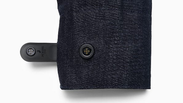 wearable technology on the cuff of a jacket