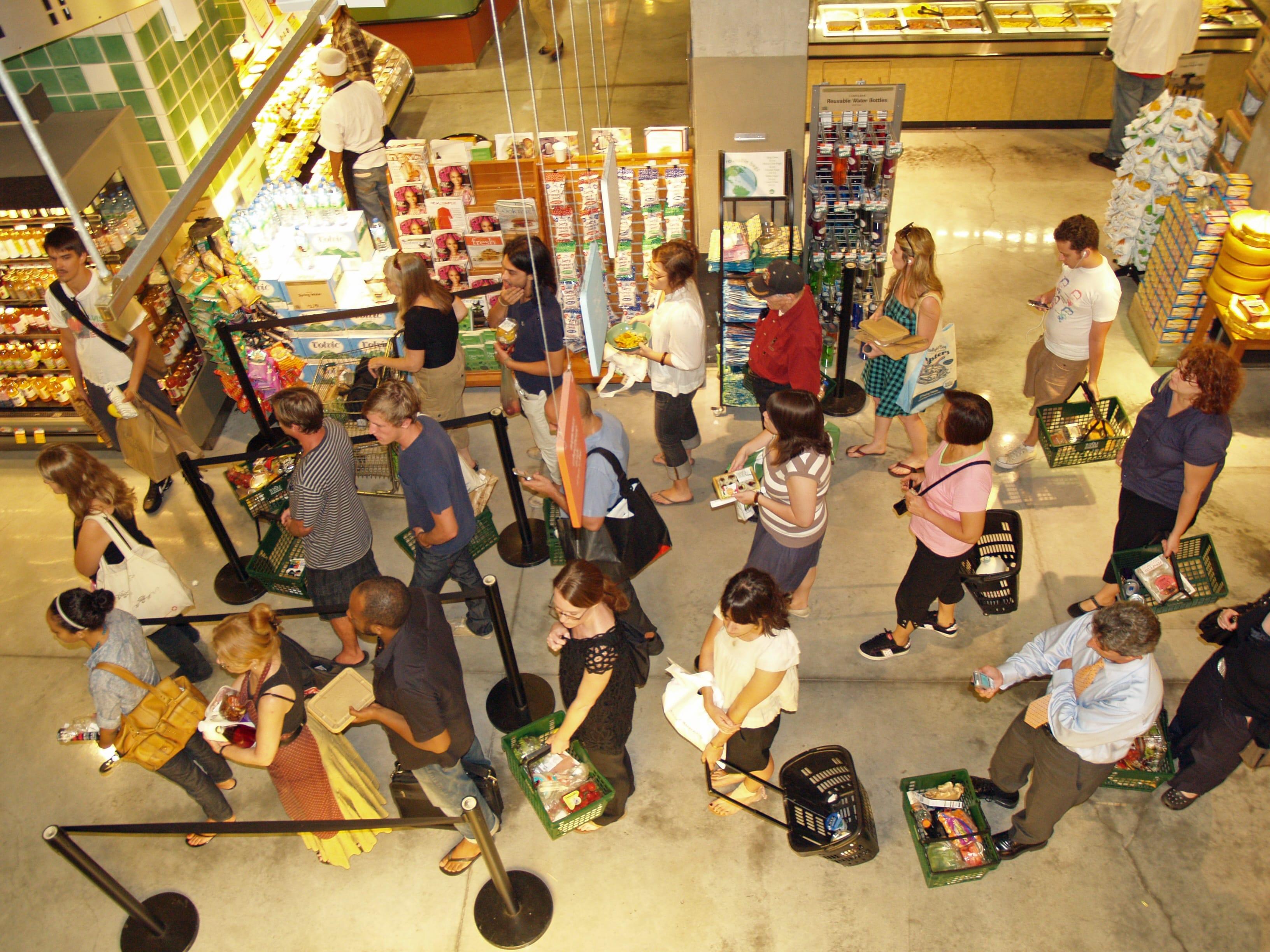 whole foods queue amazon