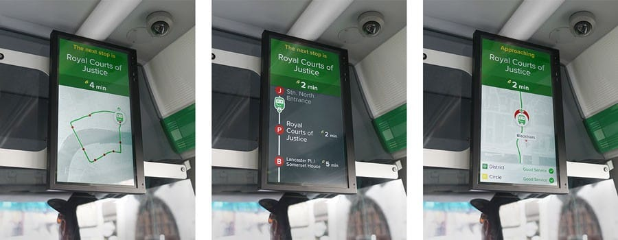 smart bus screen city mapper
