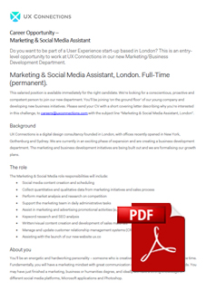Marketing & Social Media Assistant