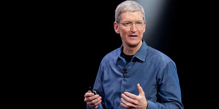 Apple CEO Tim Cook announced Apple would $1 million. Image: Flickr