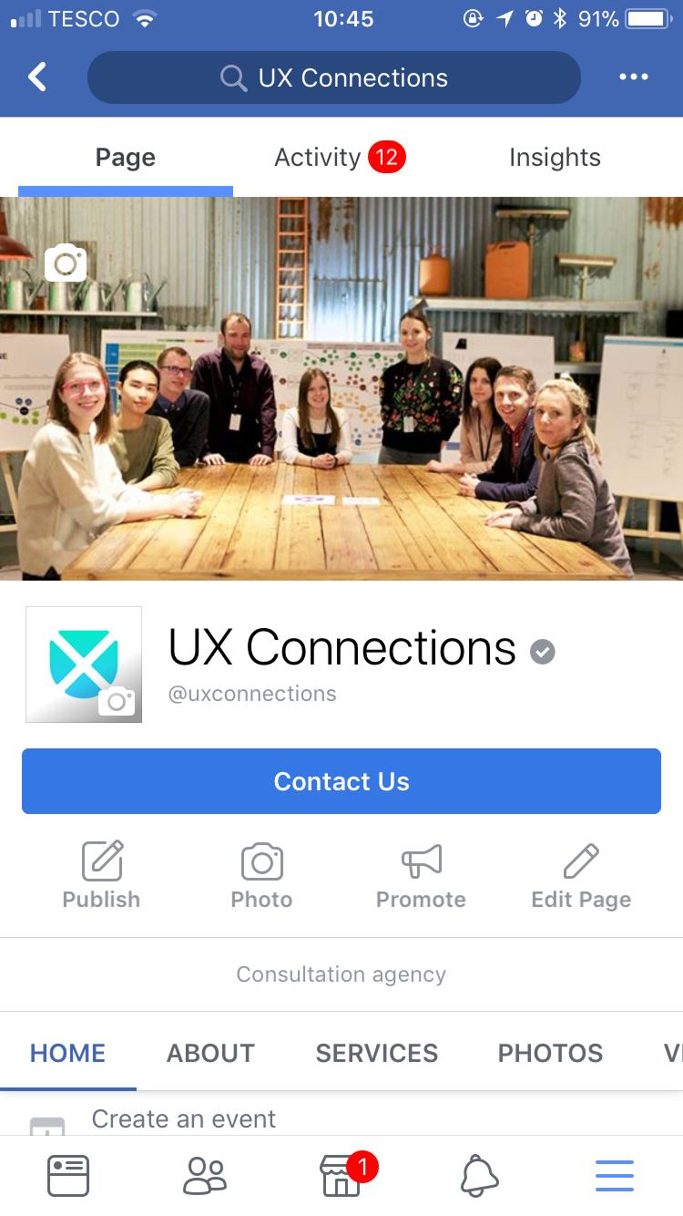 facebook graphic design colour