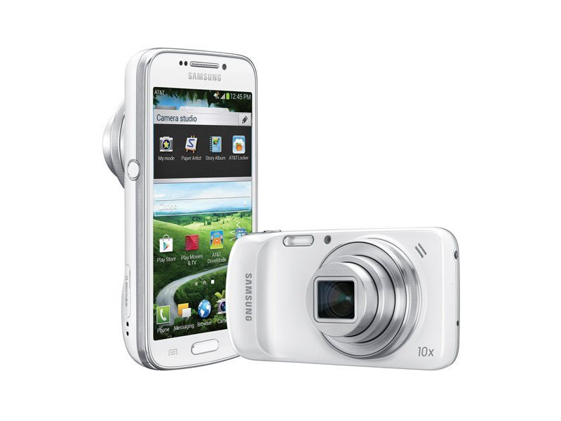 The Galaxy Zoom, a hybrid compact digital camera with optical zoom, and a smartphone.