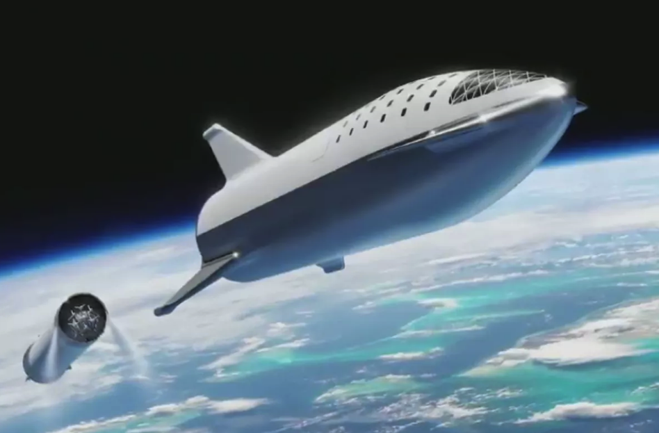 Concept for the Big Falcon Spaceship. Image: SpaceX