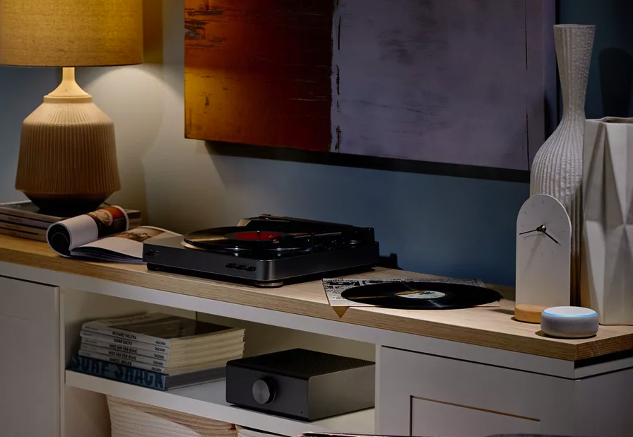"""The Echo Link can, according to Amazon: """"connect to a receiver or amplifier, with multiple digital and analog inputs and outputs for compatibility with your existing stereo equipment."""" Image: Amazon"""