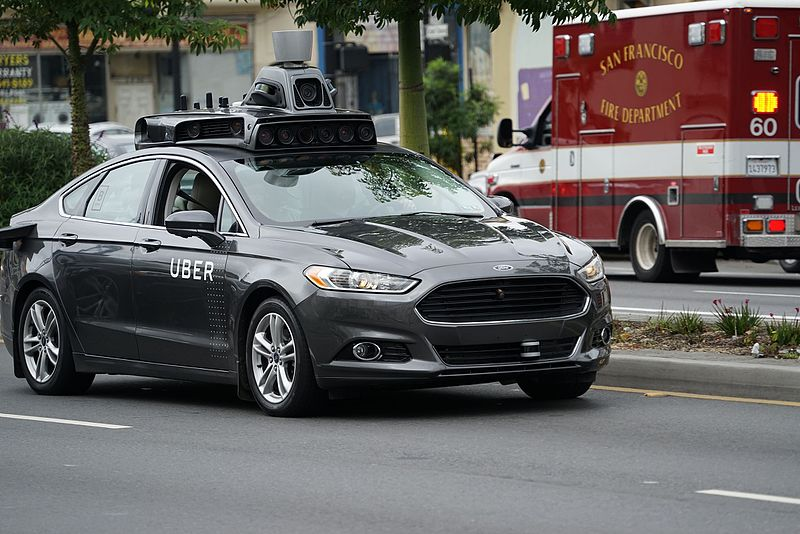 Uber's self driving prototype (Image source : Wikimedia Commons)