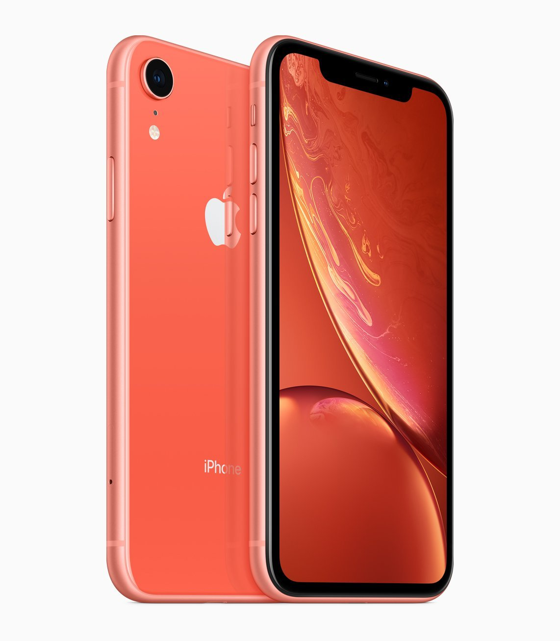 The new iPhone XR in Coral. Image from the Apple Newsroom.